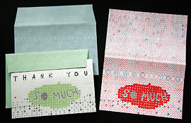 Thank You Cards and Envelopes, 2010